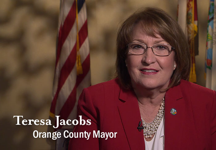 Welcome message from Orange County Mayor Teresa Jacobs