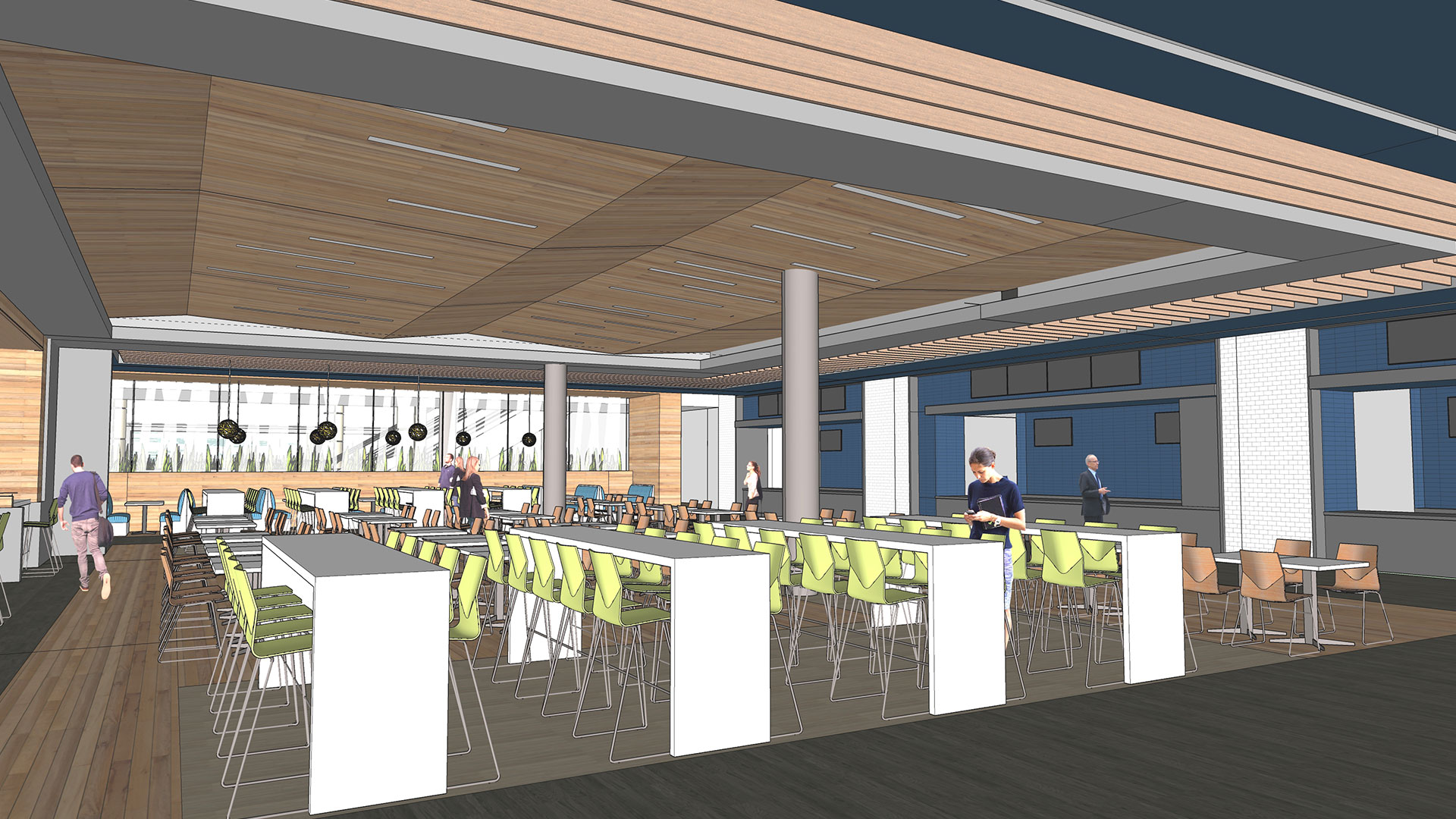 Rendering of West Hall B Food Court