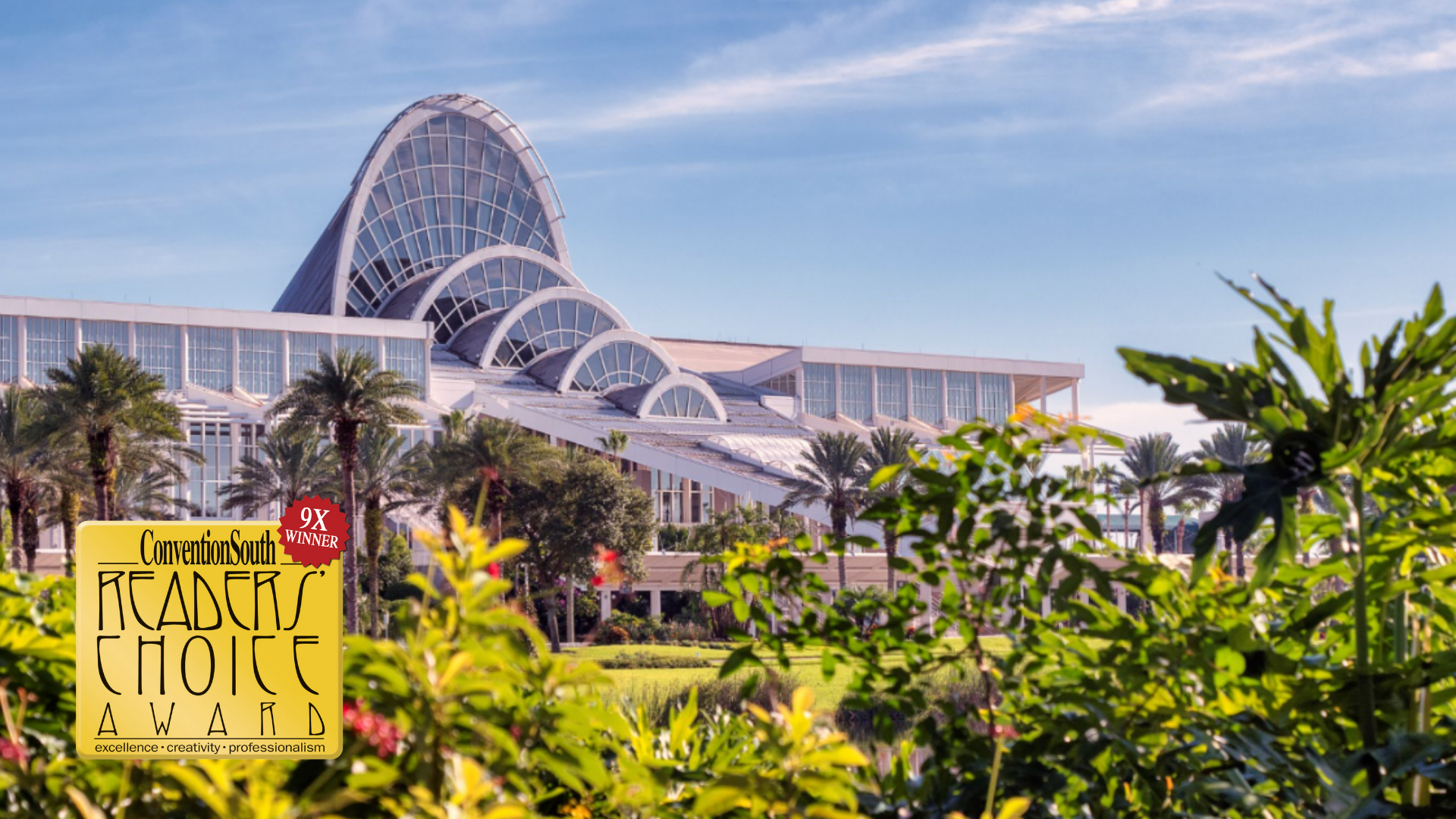Orange County Convention Center Celebrates 2020 ConventionSouth Readers' Choice Award