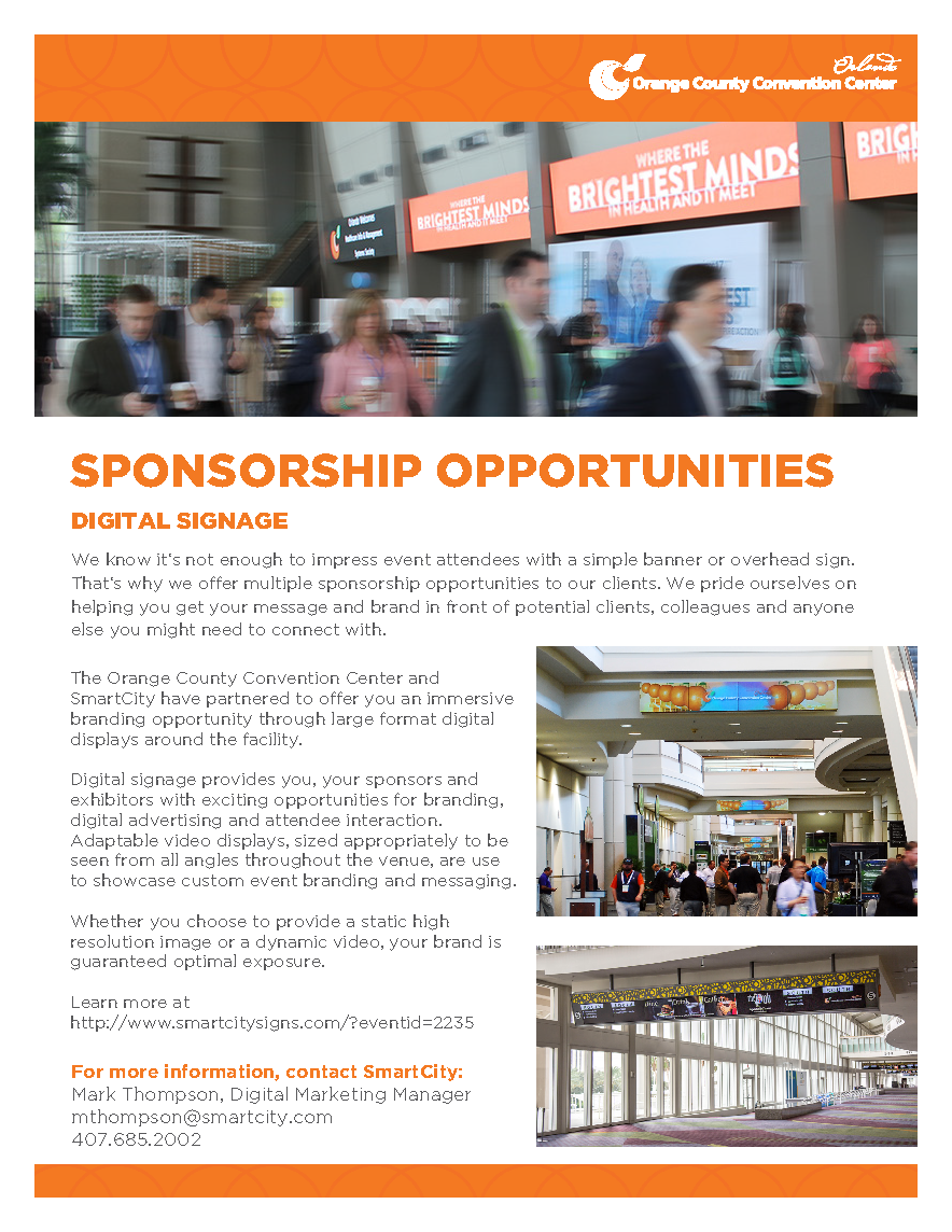 Sponsorship Opportunities - Digital Signage PDF cover